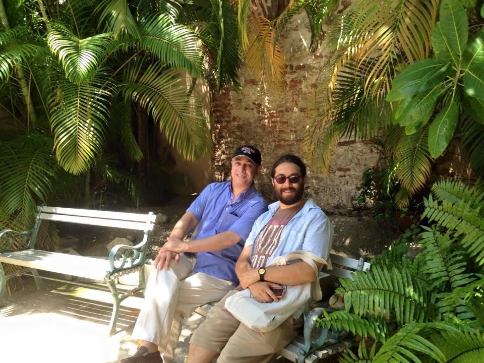 Con Christian Reynoso en Santo Domingo
