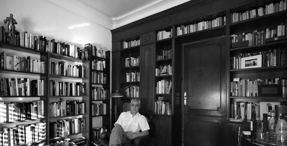 En mi estudio. Foto de Carlos Schwartz