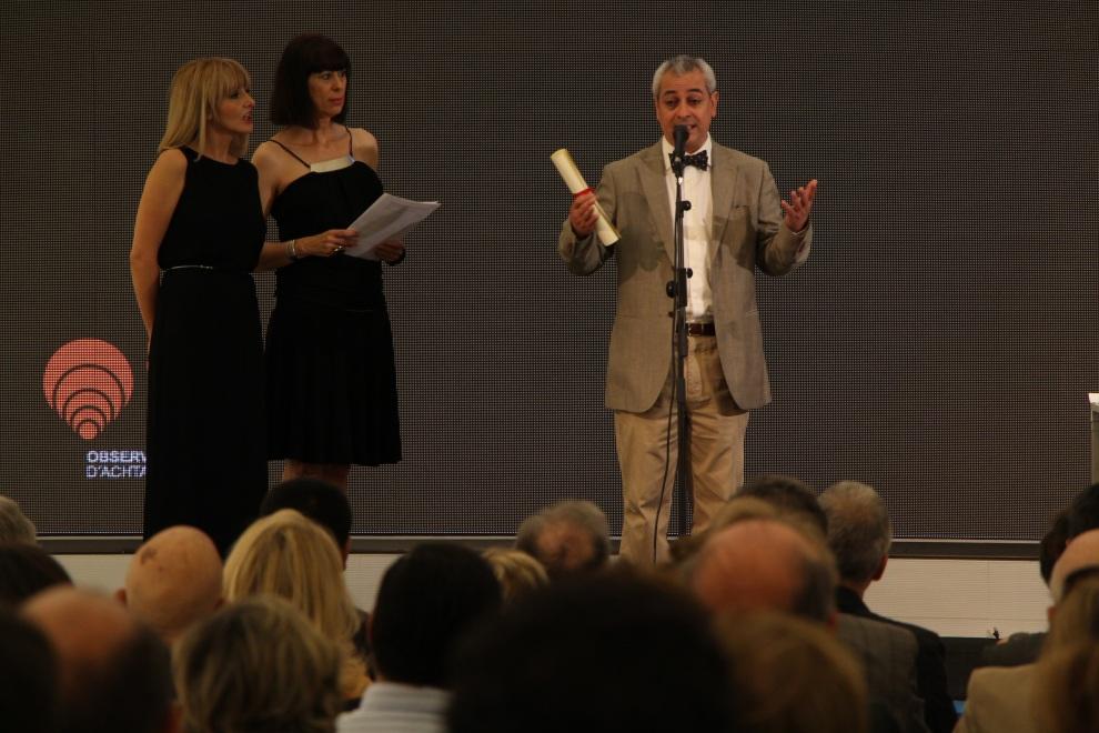Recibiendo el premio en nombre de Mordsinski