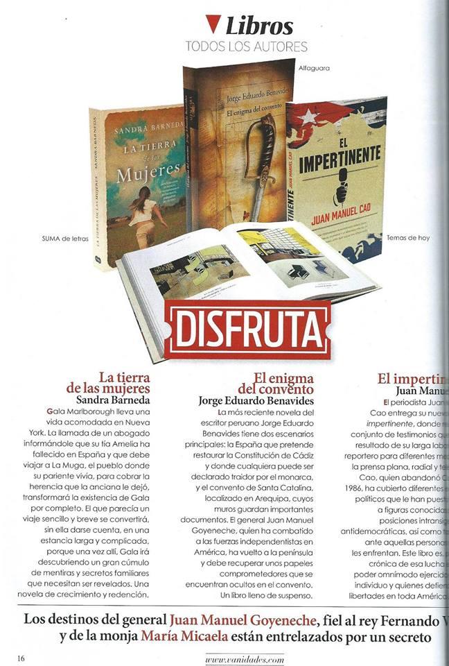 Reseña en la revista Vanidades