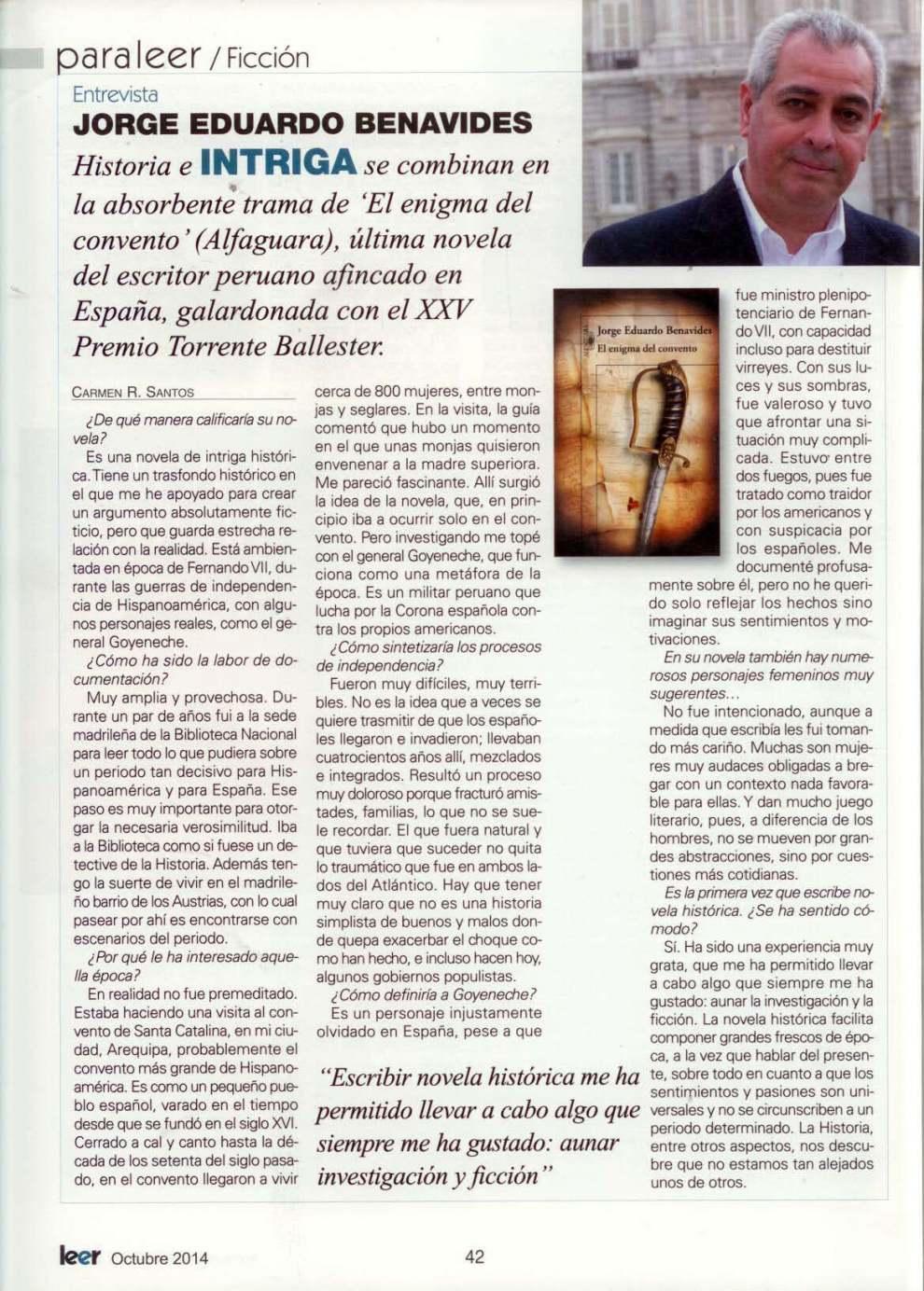 Entrevista a Jorge Eduardo Benavides