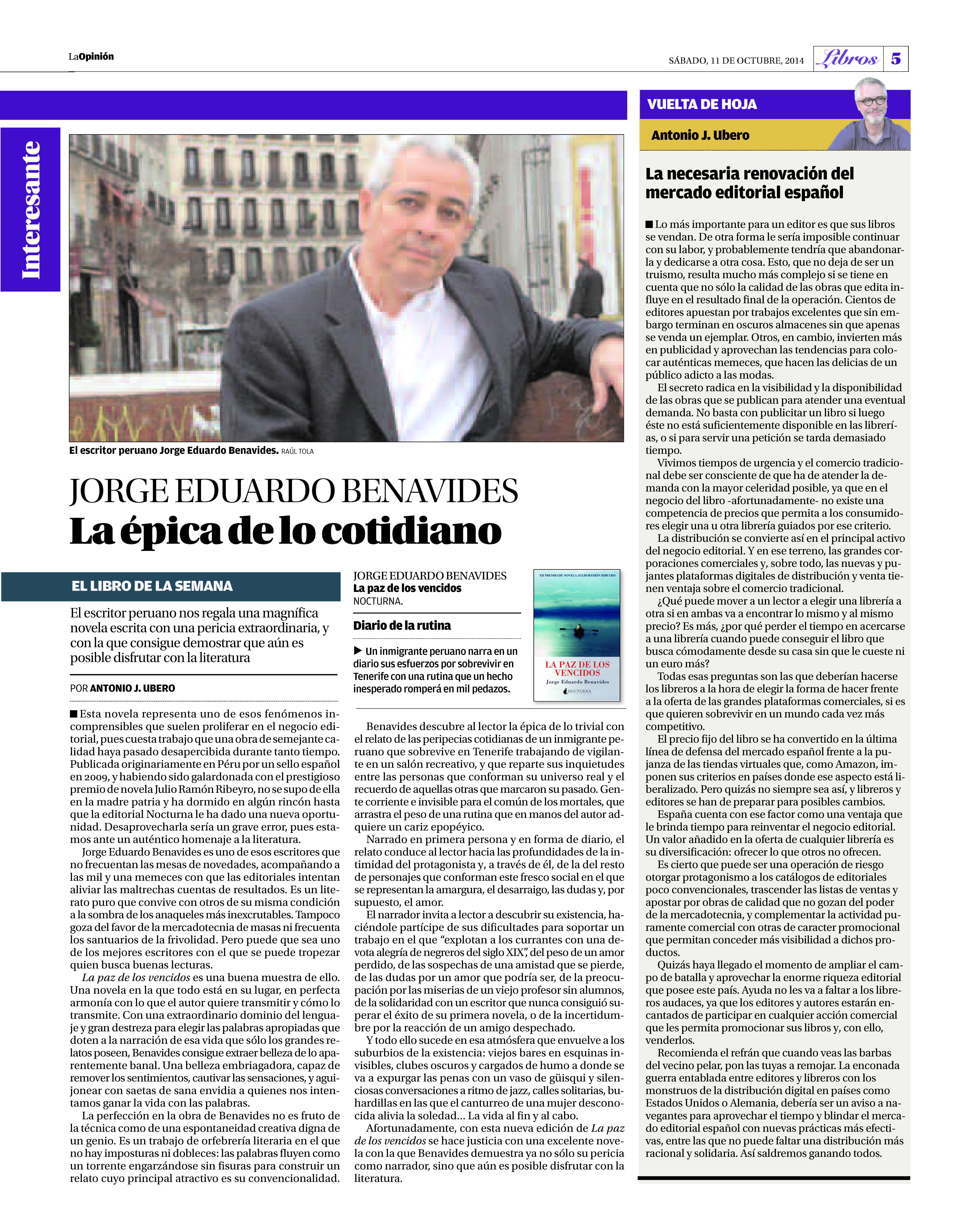 RECOPILACIÓN PERIODISTICA (sobre el autor) | jorgeeduardobenavides